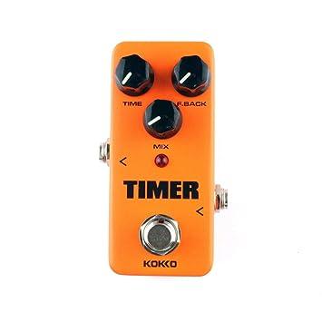 KOKKO FDD2 Timer Delay Guitarra Eléctrica Efecto Pedal Efecto Procesador de sonido Temporizador Delay Guitar Stompbox Partes y Accesorios: Amazon.es: ...