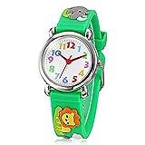 Fashion Brand Quartz Wrist Watch Baby Children Girls Boys Watch Lion Pattern Waterproof Watches