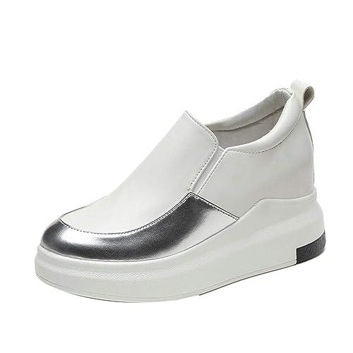 Mujer Mocasines Plataforma Casual Loafers Primavera Verano Zapatos de Cuña: Amazon.es: Zapatos y complementos