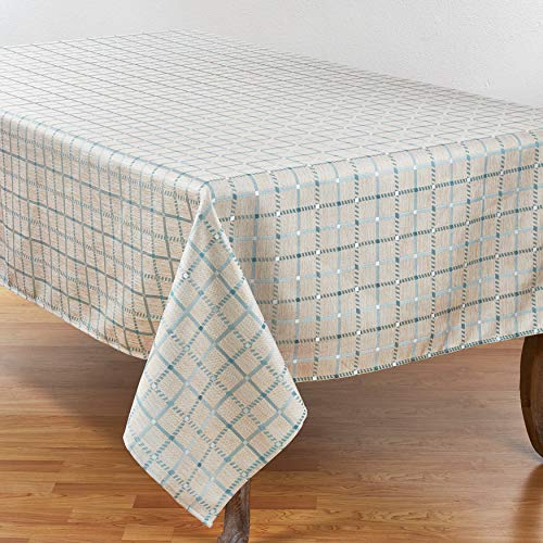 SARO LIFESTYLE 6070.A70140B Torino Collection Windowpane Check Print Tablecloth, 70