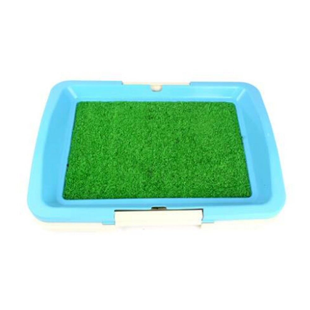 High-quality Pet Supplies & Indoor Pet Grass Potty Dog Toilet (18 13 2 ),blueE