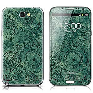 Jia SX-096 Exquisite Flower Pattern Front and Back Protector Stickers for Samsung Note 2 N7100