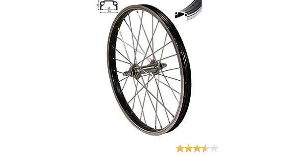 Redondo 16 Pulgadas Rueda Delantera Bicicleta 16 Buzón Llanta Aluminio Negro: Amazon.es: Deportes y aire libre