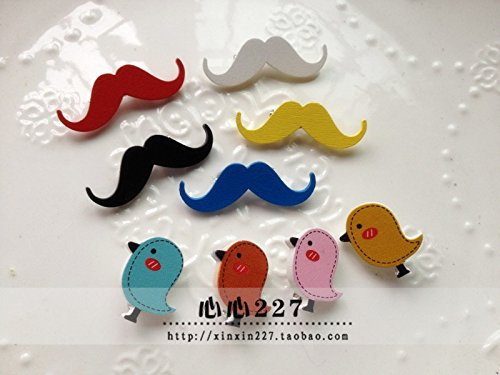 (Before making contact) Genuine wooden wind brooch three-dimensional color bearded bird brooch -