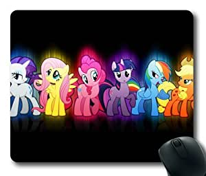 Cartoon Rainbow Dash My Little Pony Fridenship Is Magic on Black Rectangle Mouse Pad by eeMuse