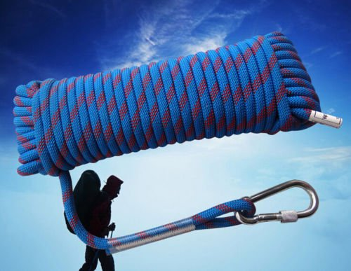 Aishine Outdoor climbing Rope (10m,33ft)/(20m,66ft)/(30m,99ft)/(50m,165ft) rock abseiling rope climbing cord climbing equipment Fire Rescue Parachute Rope