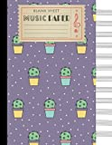 #9: Blank Sheet Music Paper: Music Manuscript Paper 12 Staves, 8.5 x 11 inches, A4, 100 pages, Cute Cactus Journal, Staff Paper, Music Notebook (Volume 2)