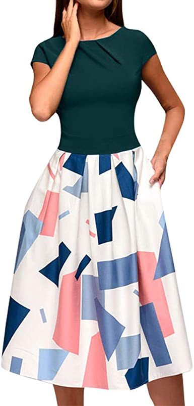 COZOCO Vestido para Mujer Casual Verano Mujer Mujer Verano ...