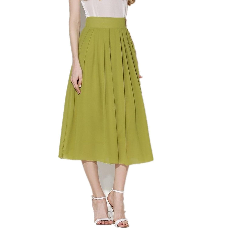 Women's New Fashion Chiffon Ankel Length Bohemian Stylish Joker All-match Long Skirts