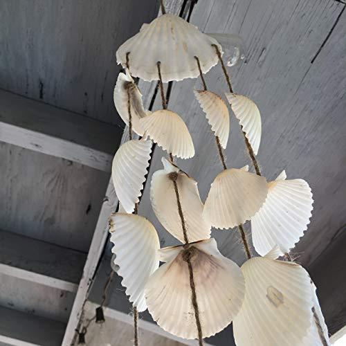 White Seashell Beach Wind Chime by Sea 2 Land Designs
