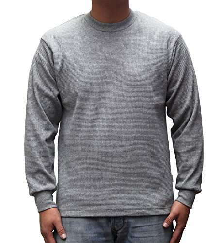 - PRO 5 Mens Casual Long Sleeve Thermal, Large, Heather Grey
