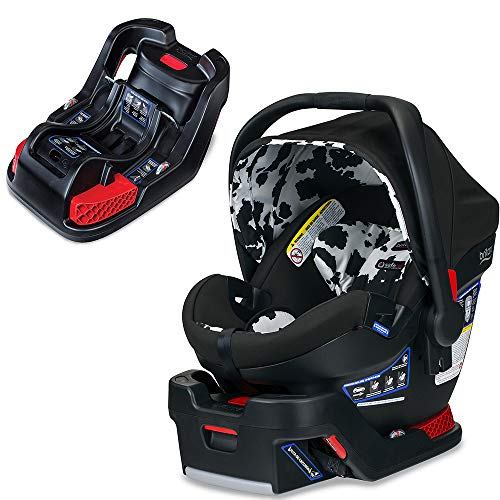 (Britax B-Safe Ultra Infant Car Seat, Cowmooflage with Extra Base Bundle)