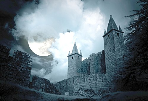 Baocicco Cotton Polyester Decadent Castle Backdrops 7x5ft Moon Horrific Night Background Happy Halloween Pumpkin Party Celebration Family Children Cosplay Photo Portraits Studio Props]()