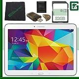 Samsung 16GB Galaxy Tab 4 Multi-Touch 10.1'' Wi-Fi Tablet (White) + 32GB SD Green's Camera Bundle