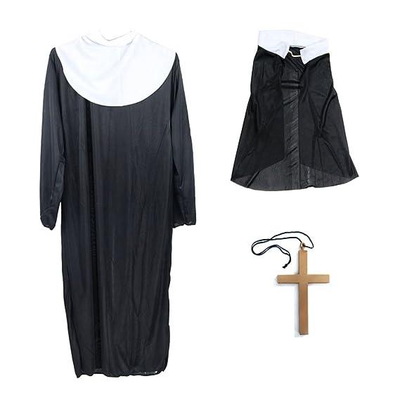 BESTOYARD Disfraz de Monja de Halloween Disfraces Robe ...