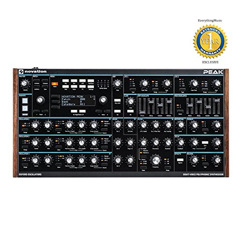 Novation Peak 8-voice Polyphonic Synthesizer Module with 1 Year Free Extended Warranty by Novation