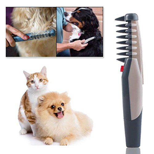 Acccity Electric Pet Dog Cat Grooming Comb Knot Out Remover Cat Hair Trimmer Tangle Tool (5.511.7710.43 inches)