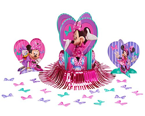Birthday Centerpiece Table Party (American Greetings Minnie Mouse Table Decorations, 23-Count)
