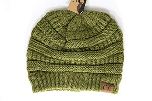 Olive Beanie Womens - Crane Clothing Co. Women's Classic CC Beanies One Size Olive