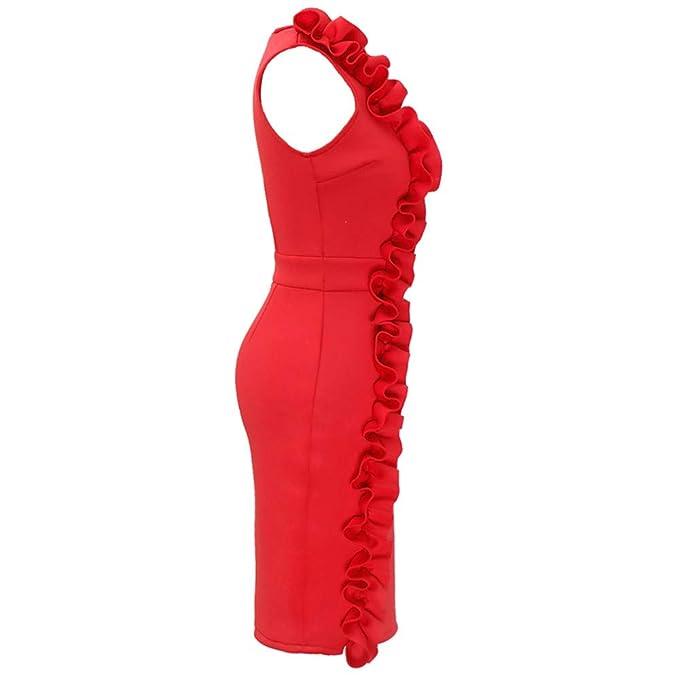 Culater Vestido Vestido De Fiesta Sin Mangas con Camisa De ...