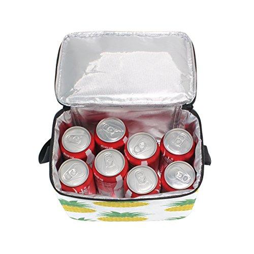 pour Lunch déjeuner Use7 Femme Fruits nbsp;Tropical Sac Tout fourre Nique Ananas à Enfants Isotherme d'école Pique Box Sac Homme d'été Cooler x6w6q0Ur7