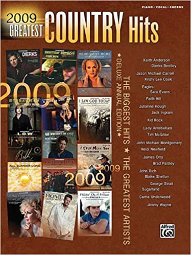 2009 Greatest Country Hits Deluxe Annual Edition Pianovocalchords
