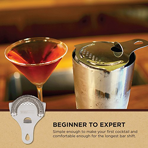Hawthorne Cocktail Strainer - Stainless Steel Strainer for Professional Bartenders and Mixologists by Top Self Bar Supply by Top Shelf Bar Supply (Image #8)