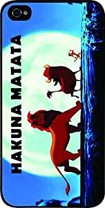 Hakuna Matata - Hard Black Plastic Snap - On Case -Apple Iphone 5C ONLY- Great Quality!