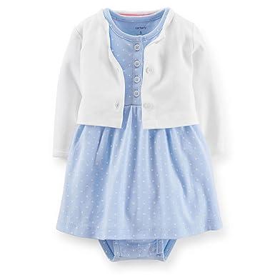 Carter\'s Baby - Mädchen Baby Body-Kleid und Strickjacke 2er Set ...