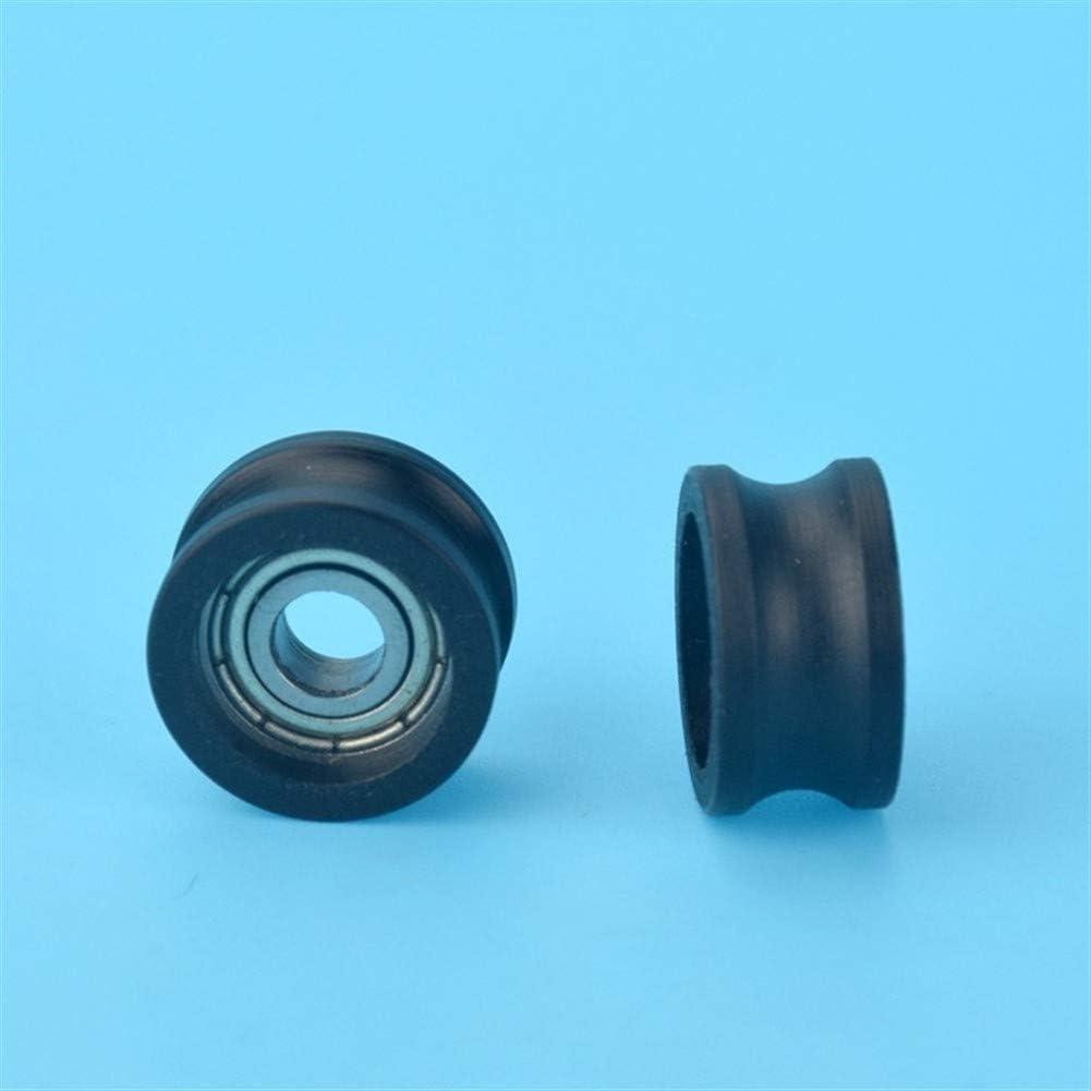 AUARTMETION1PC5168.5MM U 형 그루브 풀리 휠 나일론 가방 플라스틱 휠 가방 플라스틱 임베디드 베어링