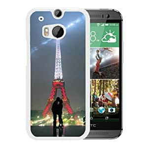 Fashionable Custom Designed Hard Shell Case For HTC ONE M8 With torre eiffel tumblr love White Phone Case