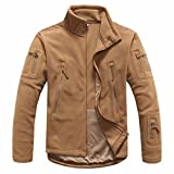 mens clothing autumn winter fleece army jacket softshell clothing for men softshell military style jackets BROWN M