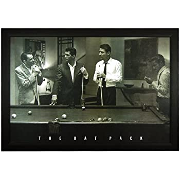 Amazon Com The Rat Pack Pool Table 23 Quot X33 Quot Framed