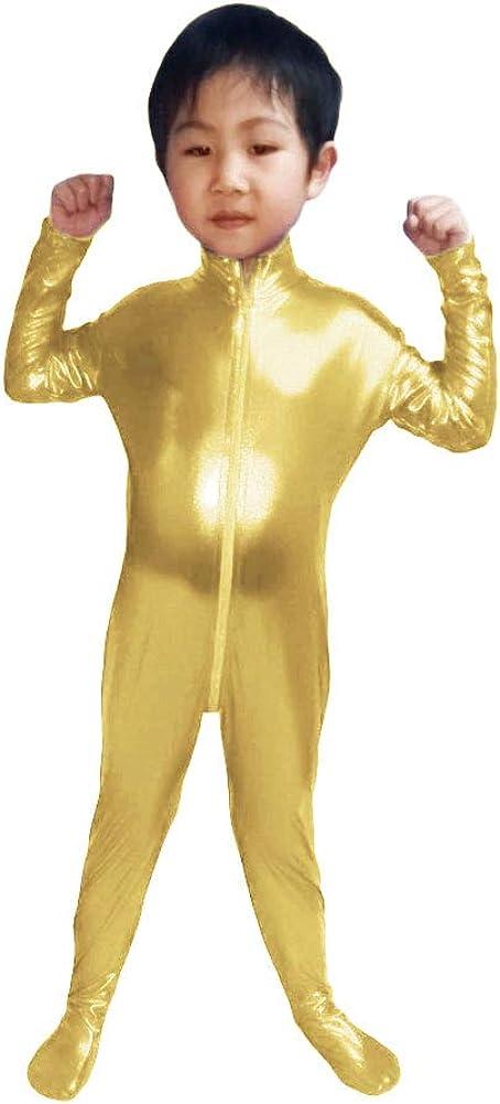 WOLF UNITARD Childs Shiny Metallic Bodysuit Dance Wear
