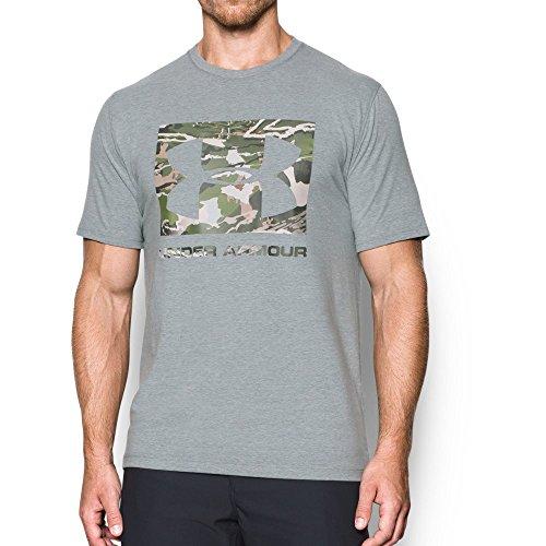 Under Armour Men's Camo Knockout Logo T-Shirt, Steel Light Heather/Not Assigned, XXX-Large