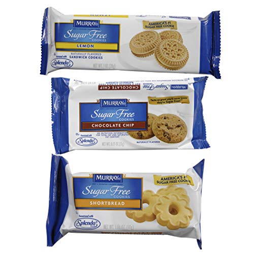 Murray Sugar Free Cookies Variety Single Serve Packs (Pack of 120) (Packaging May Vary) (Lemon Free Sugar Cookies)