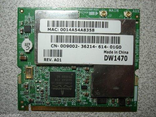 Dell Wireless 1470 802.11a/b/g WiFi MiniPCI Card D9002 by Dell