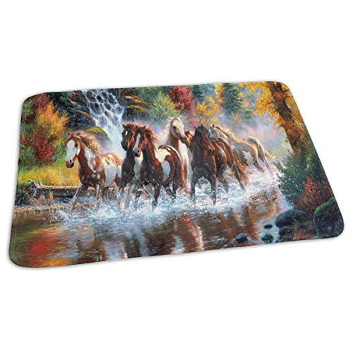 - Changing Pad Horses Waterfall Forest Autumn River Baby Diaper Incontinence Pad Mat Fabulous Boys Mattress Cover Sheet for Any Places for Home Travel Bed Play Stroller Crib Car