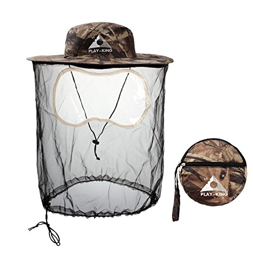 PAMASE Mosquito Netting Hat for Bugs, Insects, Gnats - Ideal for Fishing, Weeding, Beekeeping, Camping - Detachable & Collapsible - (Mosquito Netting Roll)