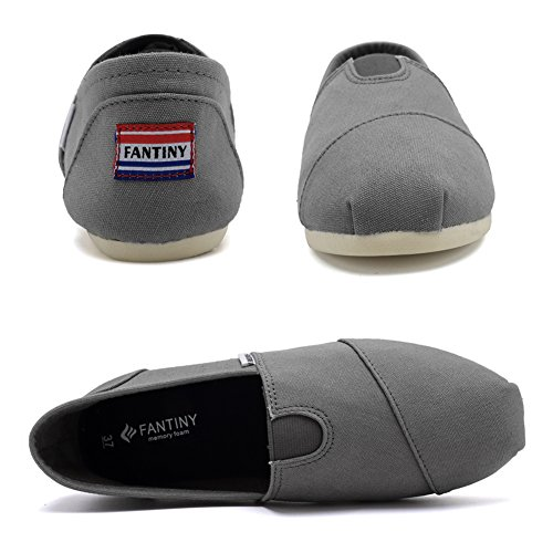 Fantiny Women's Classics Canvas Shoes Memory Foam Insole Flats Loafers Slip on CasualShoes by CIOR (Image #4)