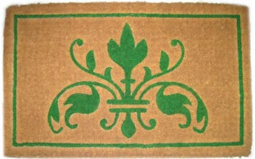 Imports Decor Printed Coir Doormat, Natural Insignia, 18-Inch by 30-Inch