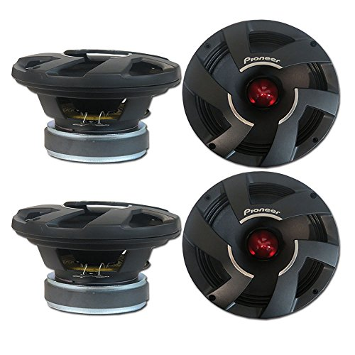 4 x Pioneer TS-M800PRO 8-inch Pro Car Audio Mid Bass Speaker Driver 8'' 700W by Pioneer & DCO