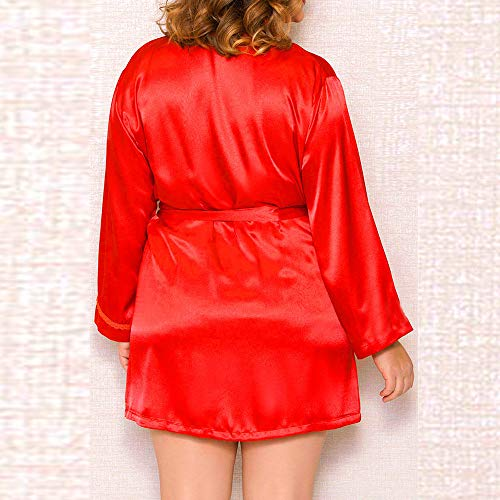 en Vêtements Soie Robe de Robe Poupée Lingerie de Nuit Rouge La du et Sexy LianMengMVP Nuit Soir Chemise Dentelle Femmes XwIaAv