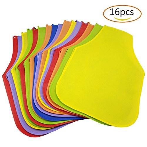 16 Pcs Kids Apron,ZICA Children's Artists Fabric Aprons for School,Painting Classroom,Home,Kitchen and Community Even Six Colors