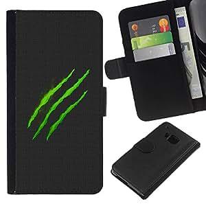 All Phone Most Case / Oferta Especial Cáscara Funda de cuero Monedero Cubierta de proteccion Caso / Wallet Case for HTC One M7 // Monster Logo