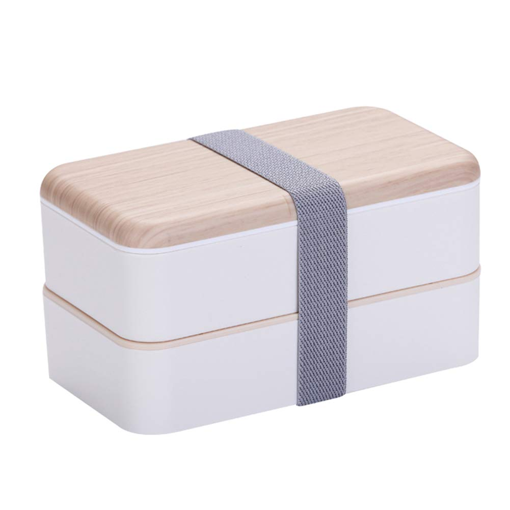 RoSoy Lunch Box per microonde Contenitore Portatile in Legno a 2 Strati