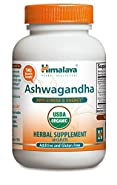 Himalaya Organic Ashwagandha 60 Caplets for Anti-Stress and Energy 670mg