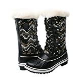 Kingshow Women's Globalwin Black/White Waterproof Winter Boots - 7.5