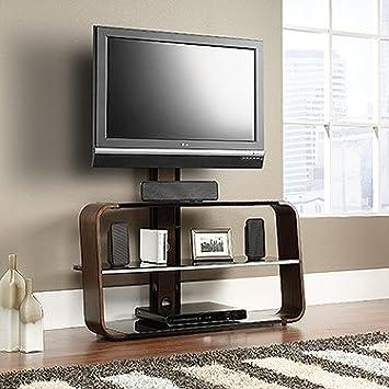 Amazon Com Sauder 413960 Corsair Tv Stand With Mount Black
