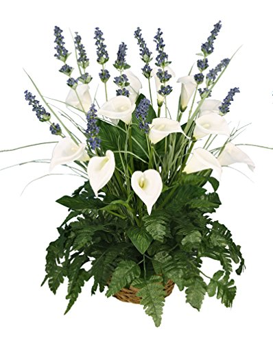 Basket Lily Arrangement (Arcadia Silk Plantation 24